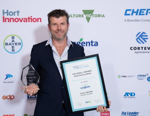 Apple grower Jason Shields recognised as Australian horticulture's Grower of the Year