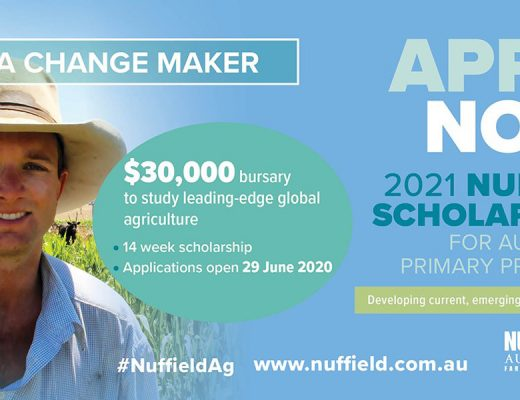 Applications open:2021 Nuffield Scholarships